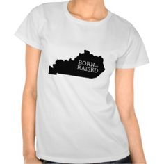 Born and Raised in Kentucky T-shirts | American Apparel tshirt Gift for Him #giftforhim #kentucky #tshirt