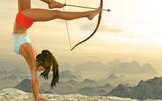Поющие в Душе: Цель Wallpaper Lara Croft, Tomb Raider Lara Croft, Raiders, Blog, Outdoor, Archery, Outdoors, Bow Arrows, Field Archery