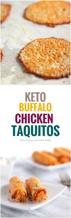 Keto Buffalo Chicken Taquitos #keto #glutenfree #lowcarb
