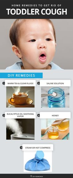 Home Remedies to Get Rid of Toddler Cough    Here are the natural ways to treat this cough in your toddlers at home, which are safe and effective remedies.  #DIYRemedies