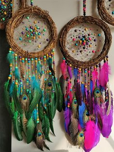 ☆☆☆☆☆☆☆☆---------------- Note: This dream catcher is made to order, please allow days processing time prior to postage. Dream Catcher Patterns, Dream Catcher Decor, Large Dream Catcher, Dream Catcher Boho, Making Dream Catchers, Diy Crafts For Kids, Arts And Crafts, Diy Dream Catcher Tutorial, Beautiful Dream Catchers