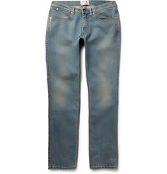 DENIM #AcneStudios' 'Max Prince' jeans are thoroughly washed for a pre-worn look that's effortlessly cool.