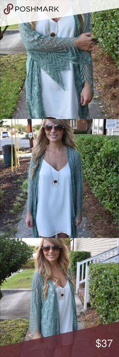 Spotted while shopping on Poshmark: Lacy sage cardigan! #poshmark #fashion #shopping #style #Tops
