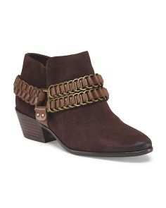 image of Suede Posey Chain Ankle Bootie