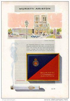 Original-Werbung/Inserat/ Anzeige 1958 - 1/1-SEITE - MURATTI ARISTON ZIGARETTEN  - ca. 250 X 160 mm