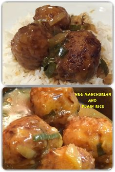 Veg manchurian has vegetable fritters in a thick soup like spicy gravy curry made of corn flour. It is generally served with varieties of rice dishes like steamed rice, Chinese fried rice, Szechuan fried rice, etc. in main course.