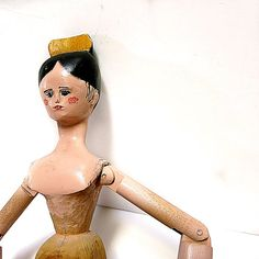 Large Tuck Comb Wood Peg Doll Vintage Reproduction by CoconutRoad