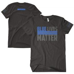 Blue Lives Matter Two-Sided Imrinted T-Shirt