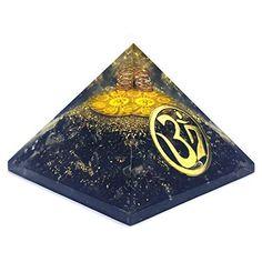 Black Tourmaline EMF Protection Aura Energy Tree Chakra Orgone Big 90mm Pyramid