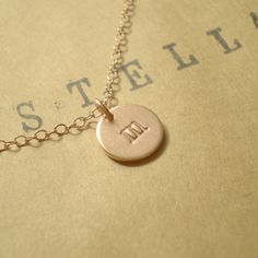 ROSE GOLD Vermeil Tiny Personalized Initial Necklace