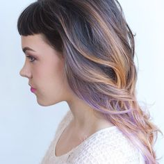 EXACTLY!!!!! Well, almost.... it needs way more peach.... but almost exactly!  Lavender peach brown