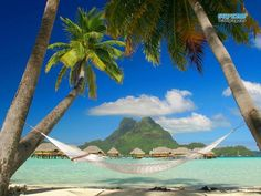 Where is Bora Bora Located? To reach Bora Bora you have to take a plane or boat, because Bora Bora is a beautiful island , located in the South Pacific Ocean , miles south of Hawaii and 150 miles northwest of Tahiti. Bora Bora is a part of French & Romantic Destinations, Vacation Destinations, Dream Vacations, Vacation Spots, Cruise Vacation, Beach Vacations, Romantic Places, Vacation Travel, Vacation Places