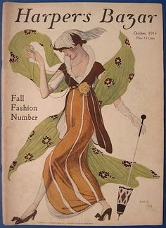 "Leon Bakst for Harper's Bazar, 1913    I'll probably use at least one Leon Bakst print as an eclectic room's ""inspiration piece"""