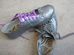 Duct Tape Shoes Of Amazingness