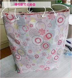 裏付きしっかりトートの作り方♪ - おはよう(*´∇`*) Organization, Sewing, Bags, Accessories, Decor, Patterns, Free, Japanese Language, Organisation