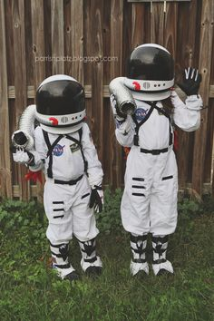 astronaut costumes with candy collecting jetpacks // parrish platz