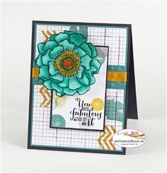 Stampin Up Blended Bloom for Stamping and Blogging