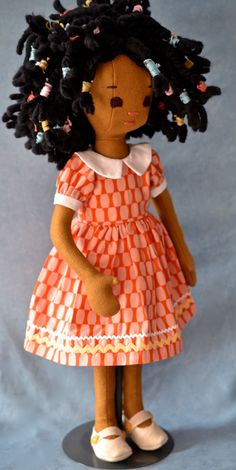 Handmade Doll jointed posable made from 100 wool by PhoebeandEgg, $240.00