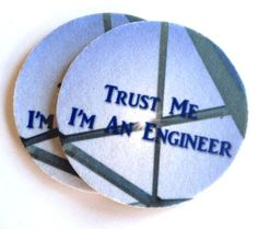 Trust Me I'm An Engineer Coaster Set  Free by spreadblessings