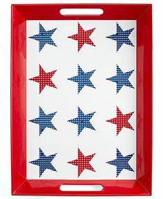Martha Stewart Collection Star-Spangled Melamine Handled Serving Tray