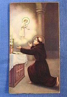 Jézus és Szent Antal akit éppen most üdvözöltem nem rég került a védőszenjeim közé örülök Isten ezen ajándékának is