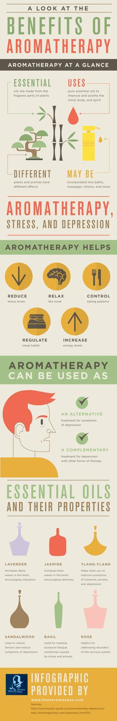 Lavender essential oil is often used during aromatherapy. This oil increases alpha waves in the brain, which encourages relaxation. Click over to this infographic from an aromatherapy spa in Cupertino to read about other essential oils.