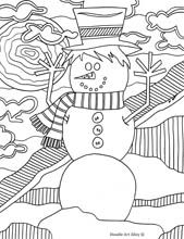 winter coloring pages- go to free coloring pages on left side and there are pages for almost anything