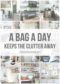 Are you ready to take action and get serious about eliminating clutter in your home? A Bag a Day Keeps the Clutter Away! Come get inspired. | The Inspired Room