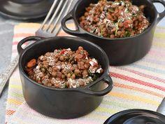 Découvrez la recette Lentilles au lait de coco et tomates confites sur cuisineactuelle.fr.