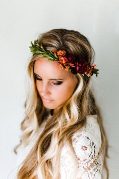 Rustic Fall Flower Crown by emilyroseflowercrown on Etsy https://www.etsy.com/listing/277521588/rustic-fall-flower-crown