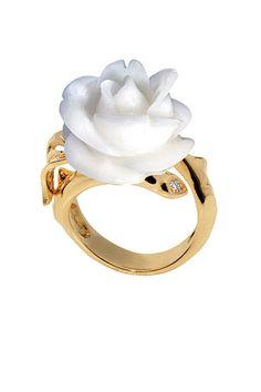 Kappa Delta - white rose Dior Fine Jewelry.