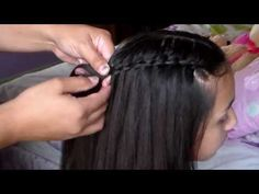 ▶ Como Hacer Trenza De Cascada/Trenza de moda:) - YouTube