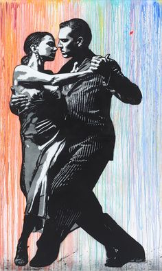 JEF AEROSOL - TANGO - DAVID PLUSKWA ART CONTEMPORAIN http://www.widewalls.ch/artwork/jef-aerosol/tango/ #Aerosol