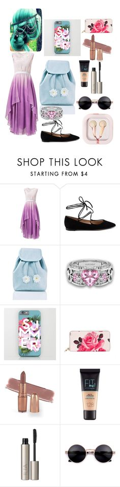 """""""Summer Date"""" by sugoimofo ❤ liked on Polyvore featuring Gianvito Rossi, Sugar Thrillz, Kate Spade, Maybelline, Ilia and claire's"""
