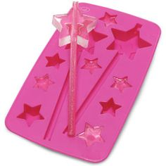 Magic Wand Ice Trays - imagine the possibilities!  Chocolates on a paper straw, Jello, soap, crayons...