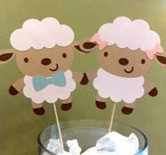 Baby Lamb Centerpiece Sticks/ Little Lamb Party/ Lamb Baby Shower Picks/ Girl Lamb Party/ Boy Lamb Party/ Baby Sheep Party Supplies/ Lambs by Klutterella on Etsy https://www.etsy.com/listing/555356420/baby-lamb-centerpiece-sticks-little-lamb