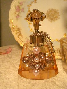 Vintage Jeweled Perfume Bottle