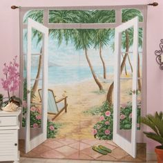 Sweet Home Collection Island Breeze Curtain Panel (Set of 2)