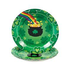 St. Patrick's Day Rainbow Dessert Plates