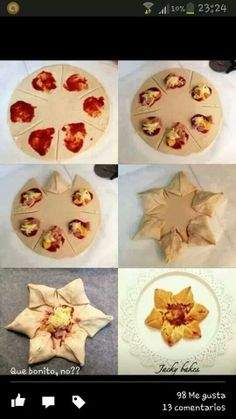 Pizza -estrella de hojaldre.