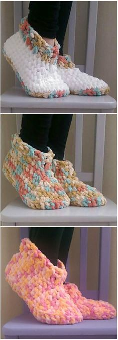 Cloud 9 Slippers Crochet Pattern – Free Crochet Pattern – New Craft Works – Knitting and crocheting Crochet Shoes Pattern, Bag Crochet, Crochet Motifs, Crochet Socks, Crochet Beanie, Crochet Gifts, Crochet Clothes, Crochet Baby, Crochet Patterns
