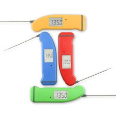 Thermapen® Mk4  An instant-read thermometer is a handy way to take the guesswork out of cooking meat (and lots of other things). Our favorite model from ThermoWorks