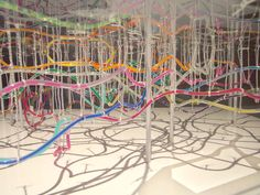 Ant nest: Takatsugu Kuriyama used water hoses and multicolored ink to create a map of the underground railway lines in Tokyo. Tokyo Subway, Underground Lines, Subway Map, System Model, Picasa Web Albums, In The Heights, 3 D, Adoption, Concept