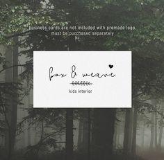 Premade Logo Bohemian Logo Design Photography Logo Premade