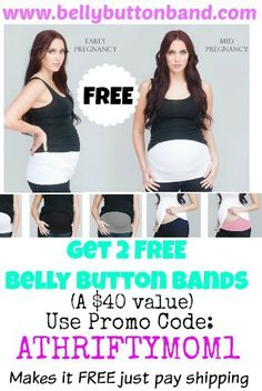 FREE Belly Button Band or Body Band maternity bandfrom BellyButtonBand.com  with promo code ATHRIFTYMOM1 1694bcf37