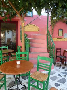 Traditional cafe - Tinos, Greece