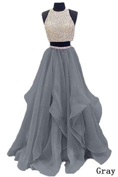 2017 Two Piece Floor Length Organza Prom Dre.Dressytailor 2017 Two Piece Floor Length Organza Prom Dre. Pretty Prom Dresses, Prom Dresses Two Piece, A Line Prom Dresses, Grad Dresses, Mermaid Prom Dresses, Quinceanera Dresses, Ball Dresses, Cute Dresses, Formal Dresses