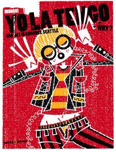 yo la tengo gig posters | Yo La Tengo 2006 Concert Poster by Guy Burwell