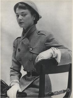 John Rawlings for Vogue // 1948 --- It's a little bit Nazi, but quite feminine and sultry, all at once.    # Pin++ for Pinterest #