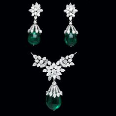 Emerald & diamond set from India